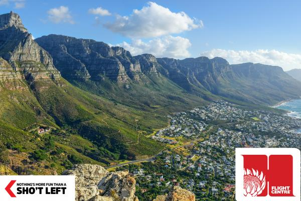 A striking view of the Western Cape coastline that can be visited as part of a Homegrown holiday package from Flight Centre.