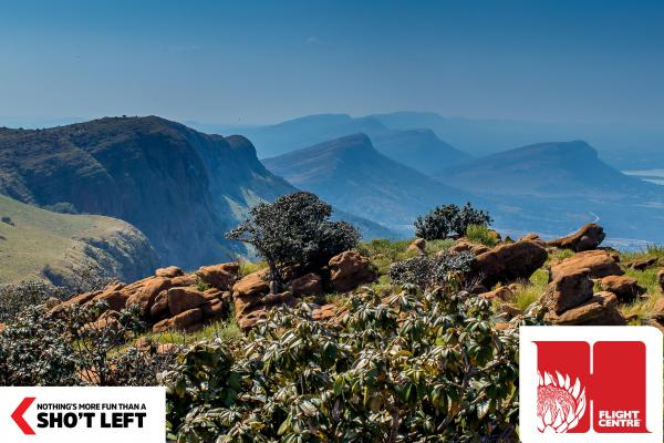 A view of the Magaliesberg mountain, which can be toured with a Magaliesburg Homegrown holiday package from Flight Centre.