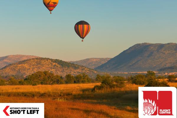 A view of the Pilanesberg, which can be visited with a Homegrown holiday package from Flight Centre.